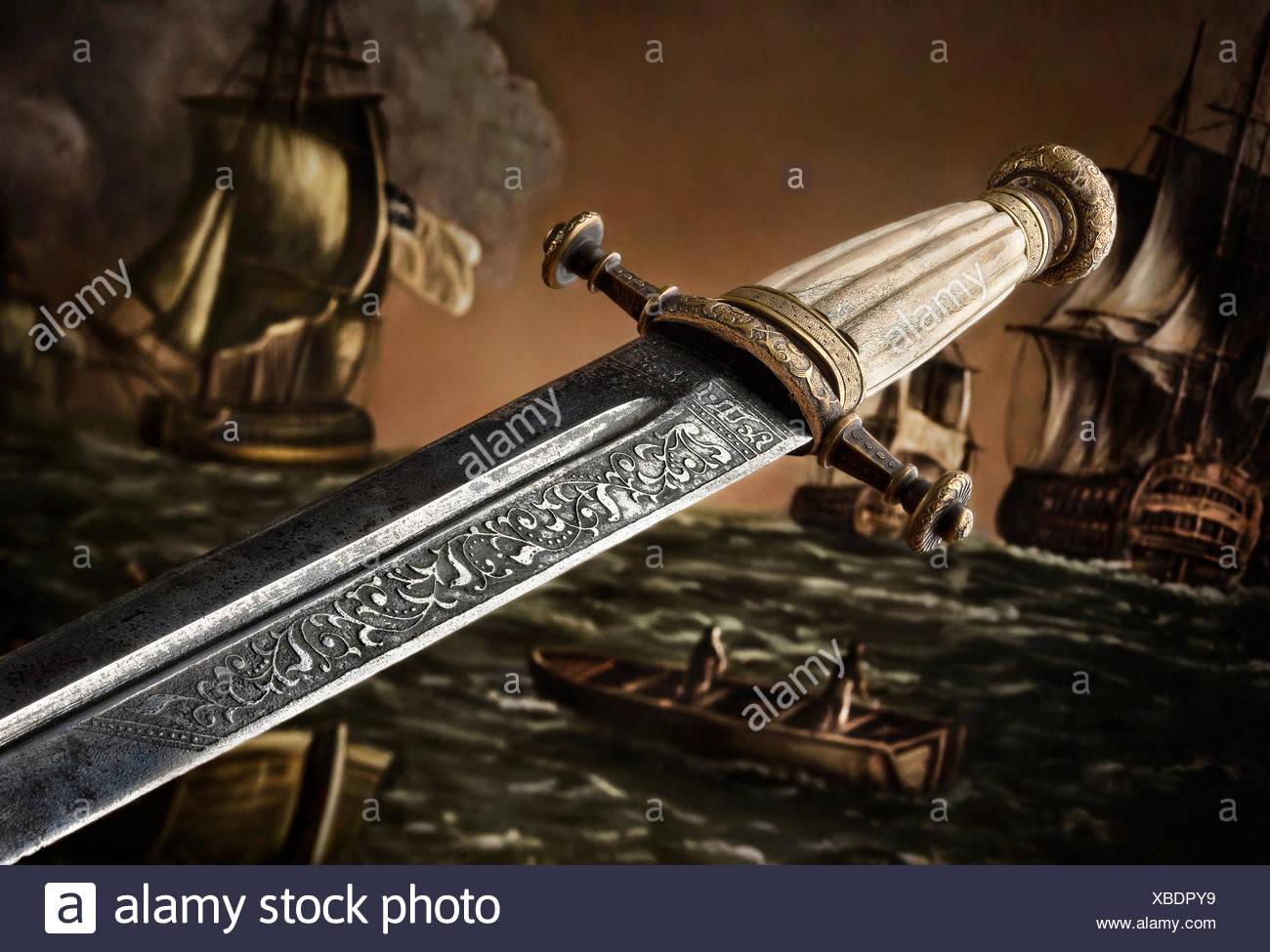 Slavic Dagger - Stock Image