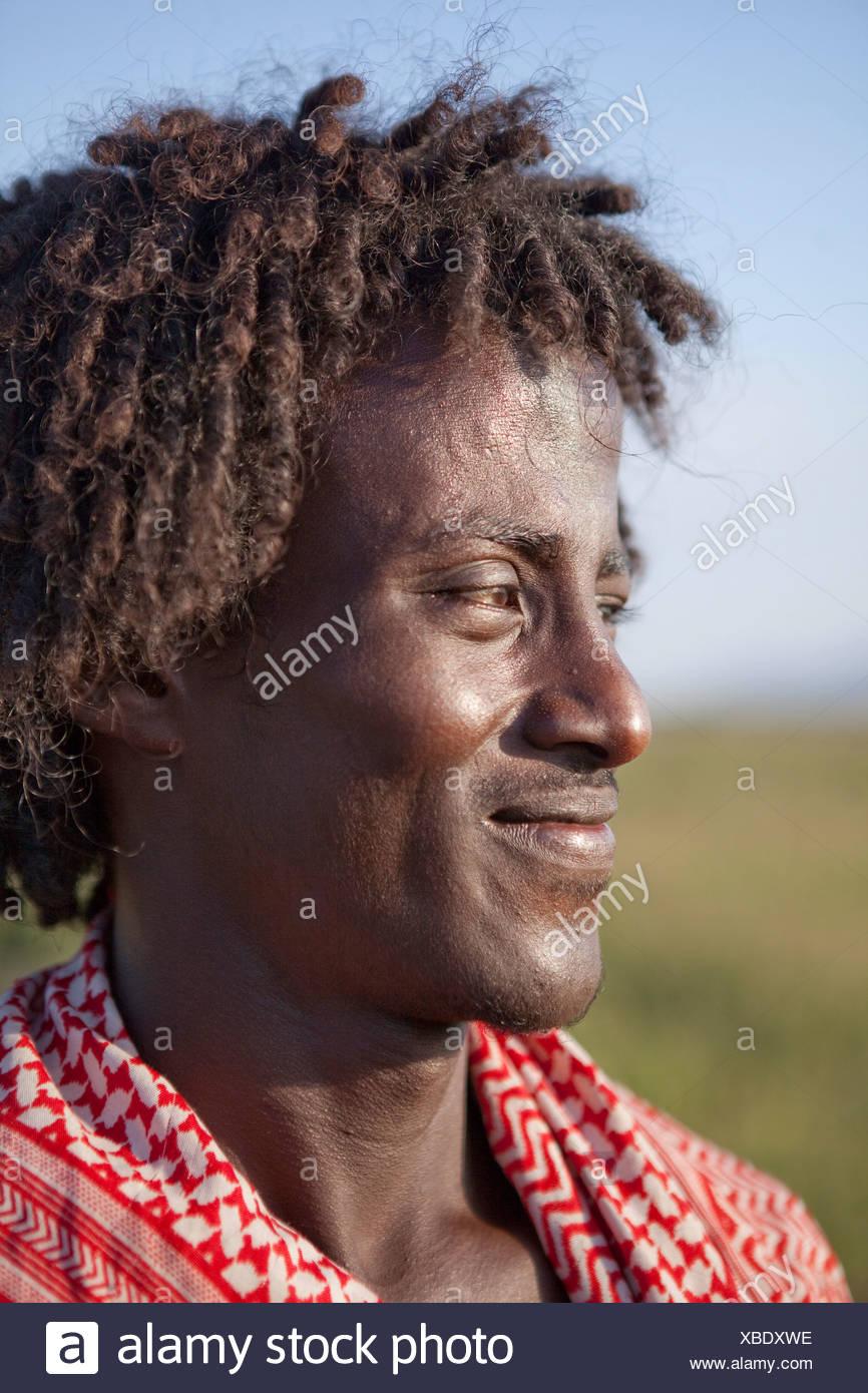 Afar, man, Africa, agriculture, man, portrait, Ethiopia, Stock Photo