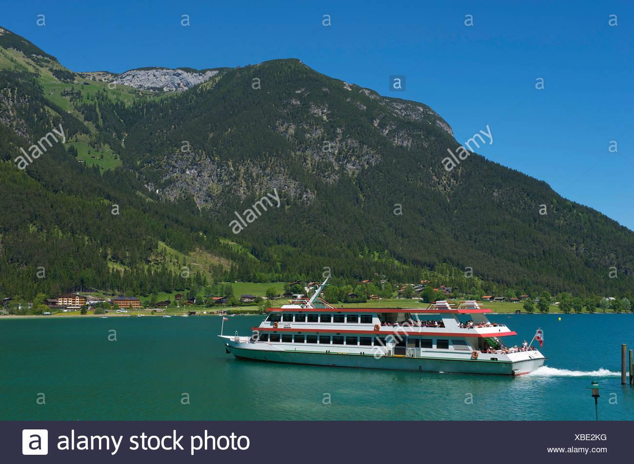 Achensee-Schifffahrt ship on Lake Achensee, Tyrol, Austria, Europe - Stock Image