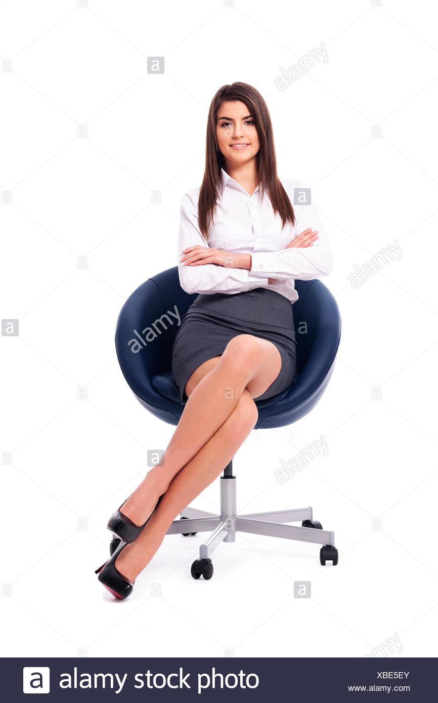 Portrait of beautiful businesswoman, Debica, Poland - Stock Image