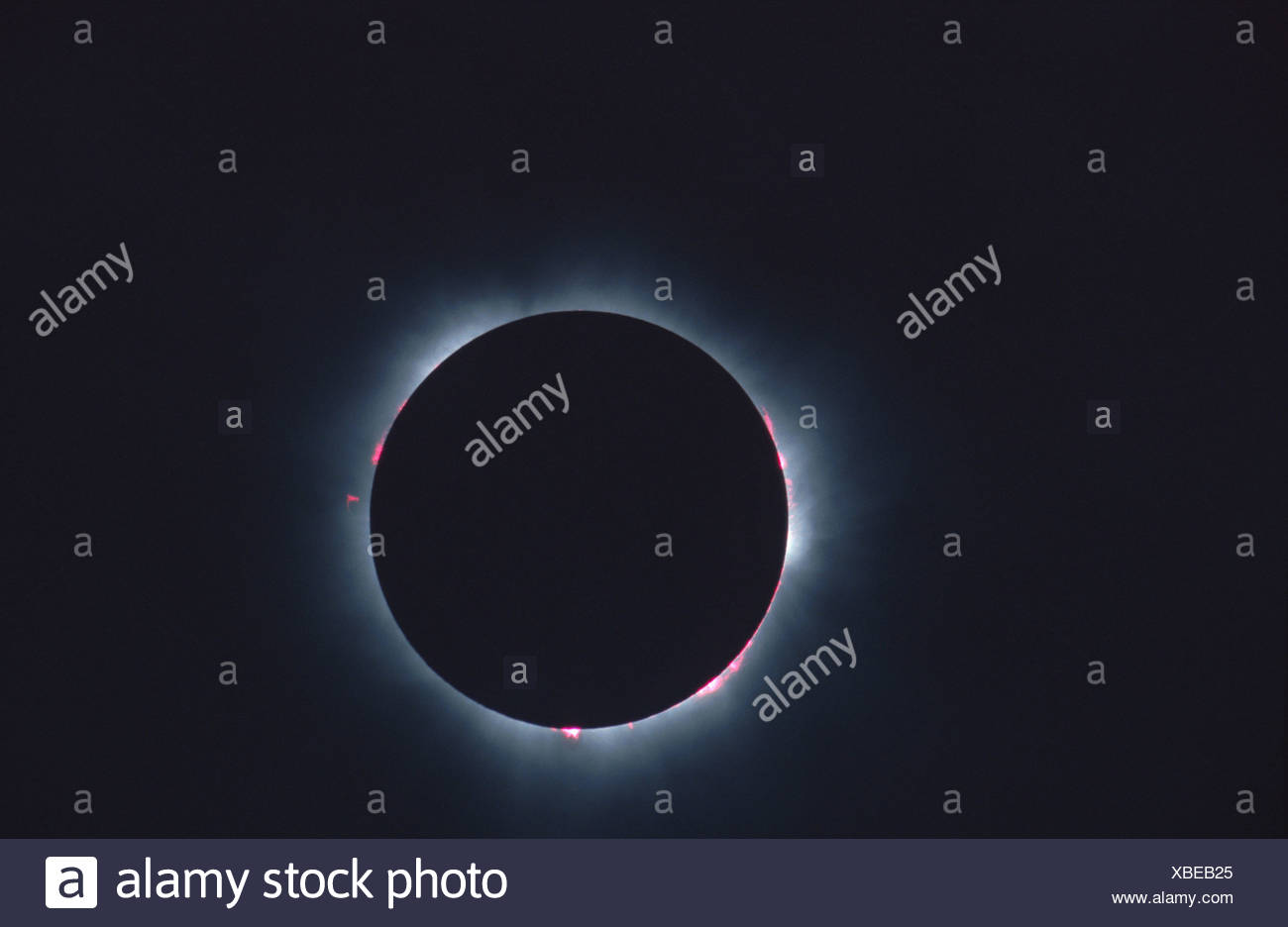 totale solar eclipse at 11.08.1999, Germany, Bavaria, Muenchen - Stock Image