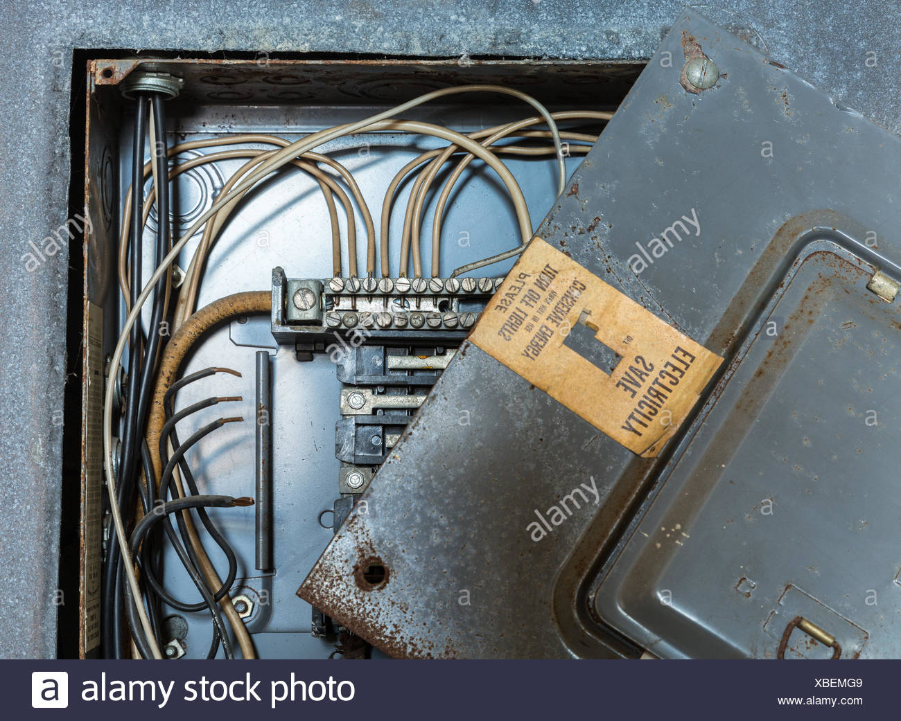Old electrical distribution or wiring box Stock Photo: 282450569 - Alamy