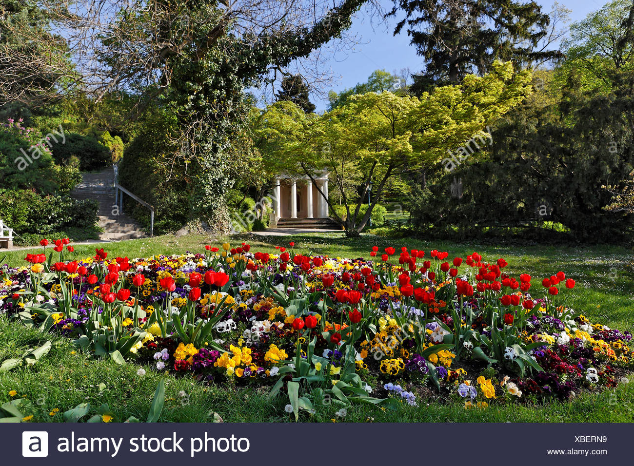 Mozart Temple in the spa park in Baden, Lower Austria, Austria, Europe Stock Photo