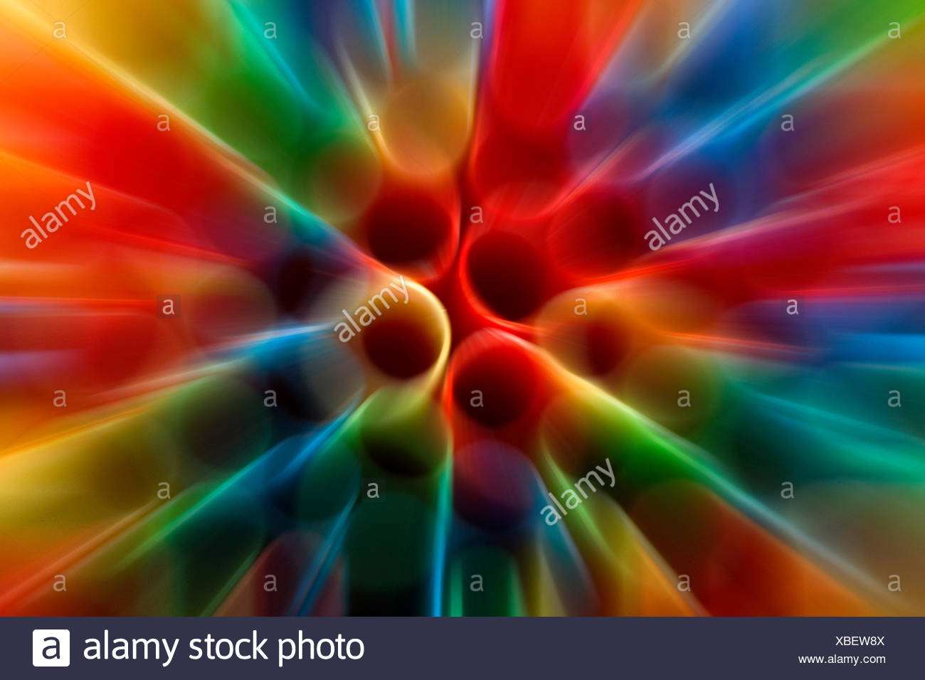 abstract background from straws - Stock Image