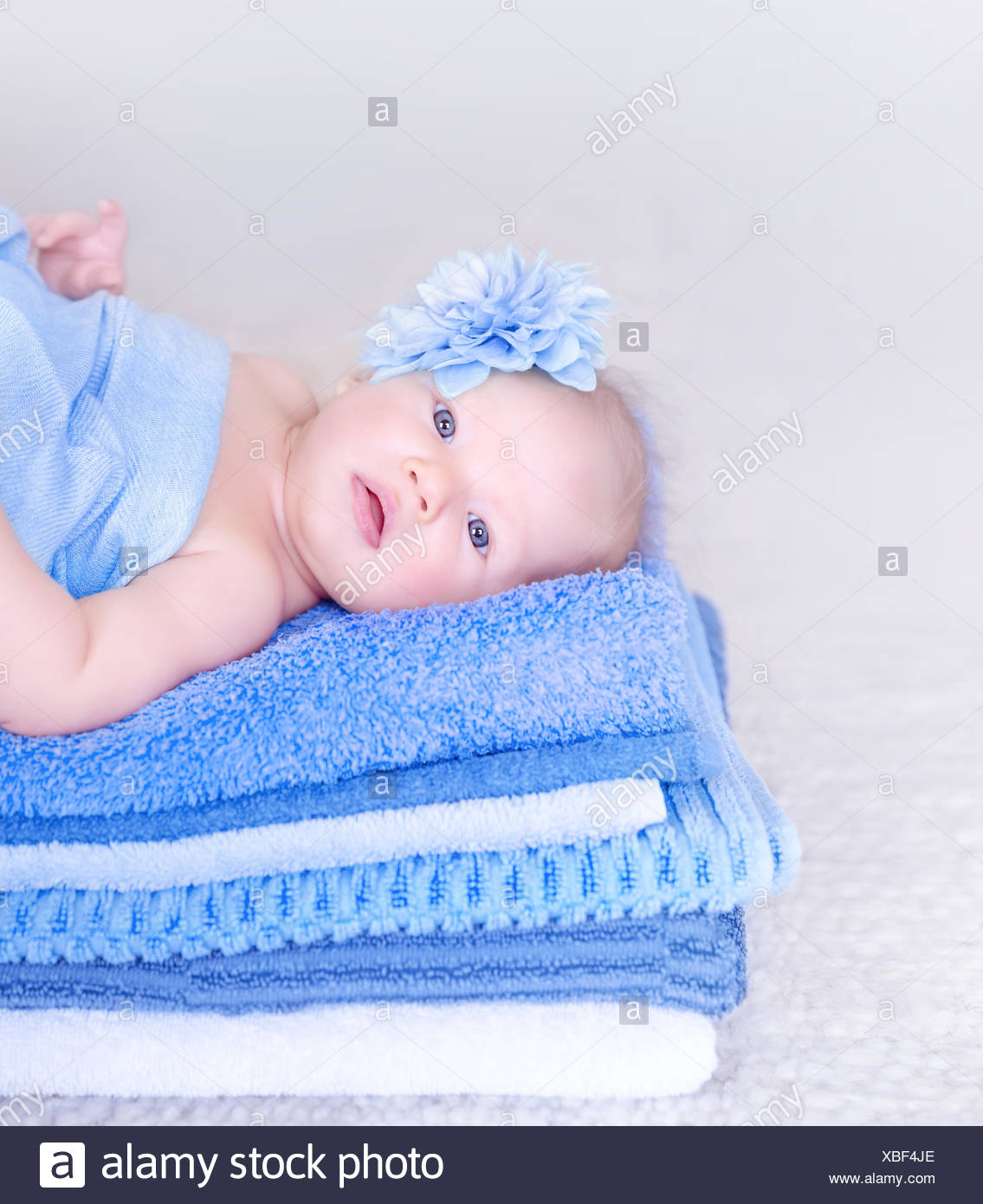 Baby Bath Accessories On White Stock Photos & Baby Bath Accessories ...