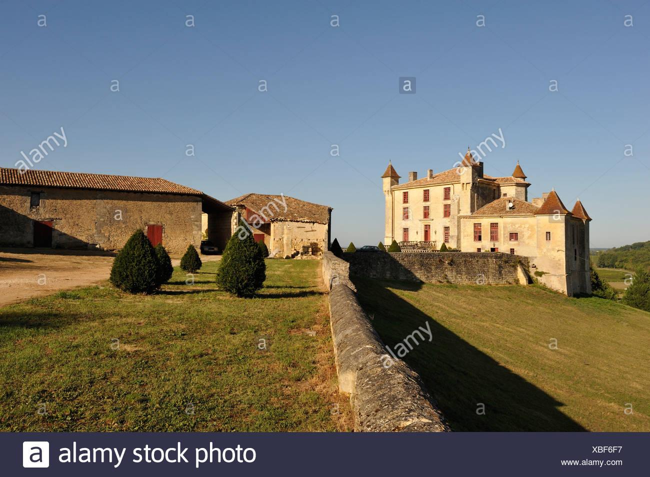 the feudal Castle of Monbadon, Monbadon-Puisseguin, Gironde department, Aquitaine region, south-western France, Europe - Stock Image
