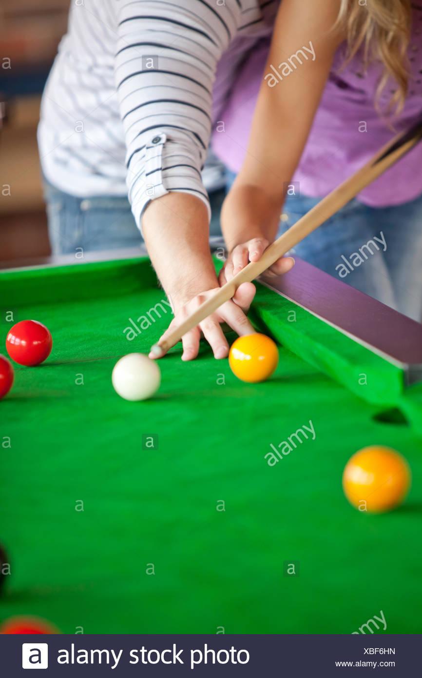 Beautiful Billiards Play Woman Stock Photos Beautiful Billiards - How to play pool table