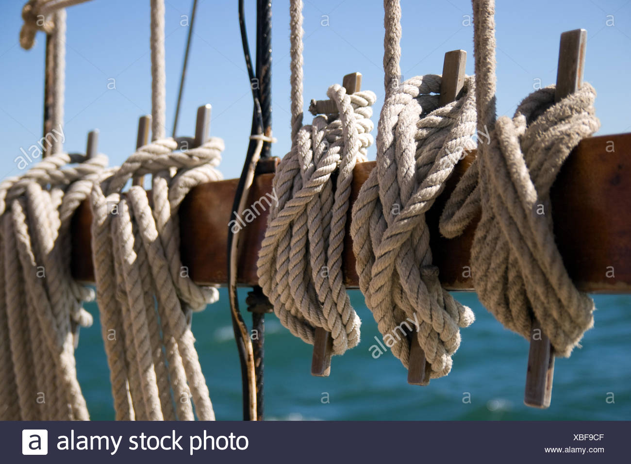 detail contrasts sailing boat - Stock Image