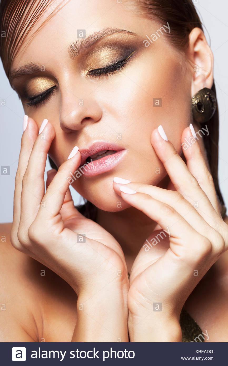 Dripping Eye Makeup Stock Photos Dripping Eye Makeup Stock Images