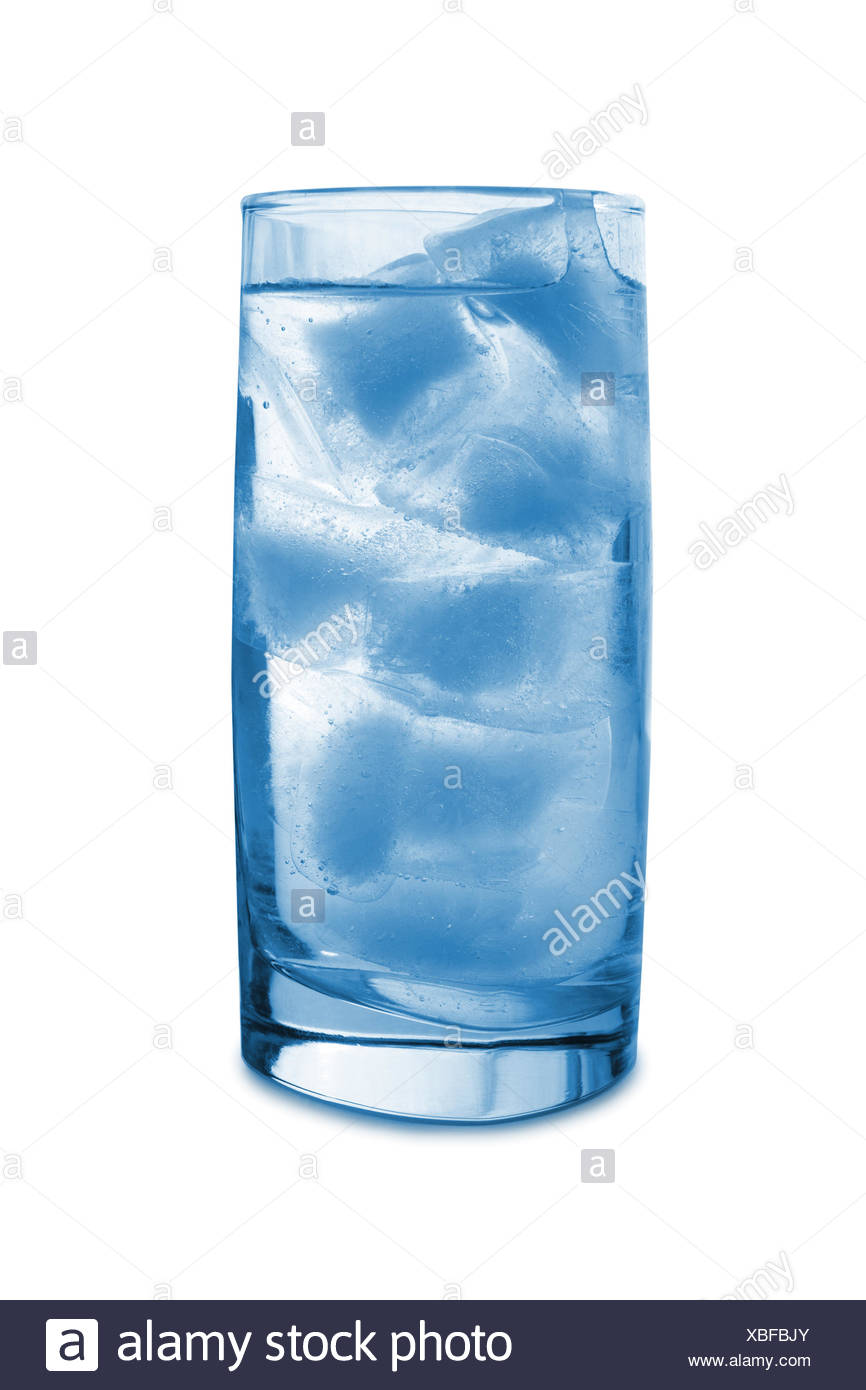 Ice in glass - Stock Image