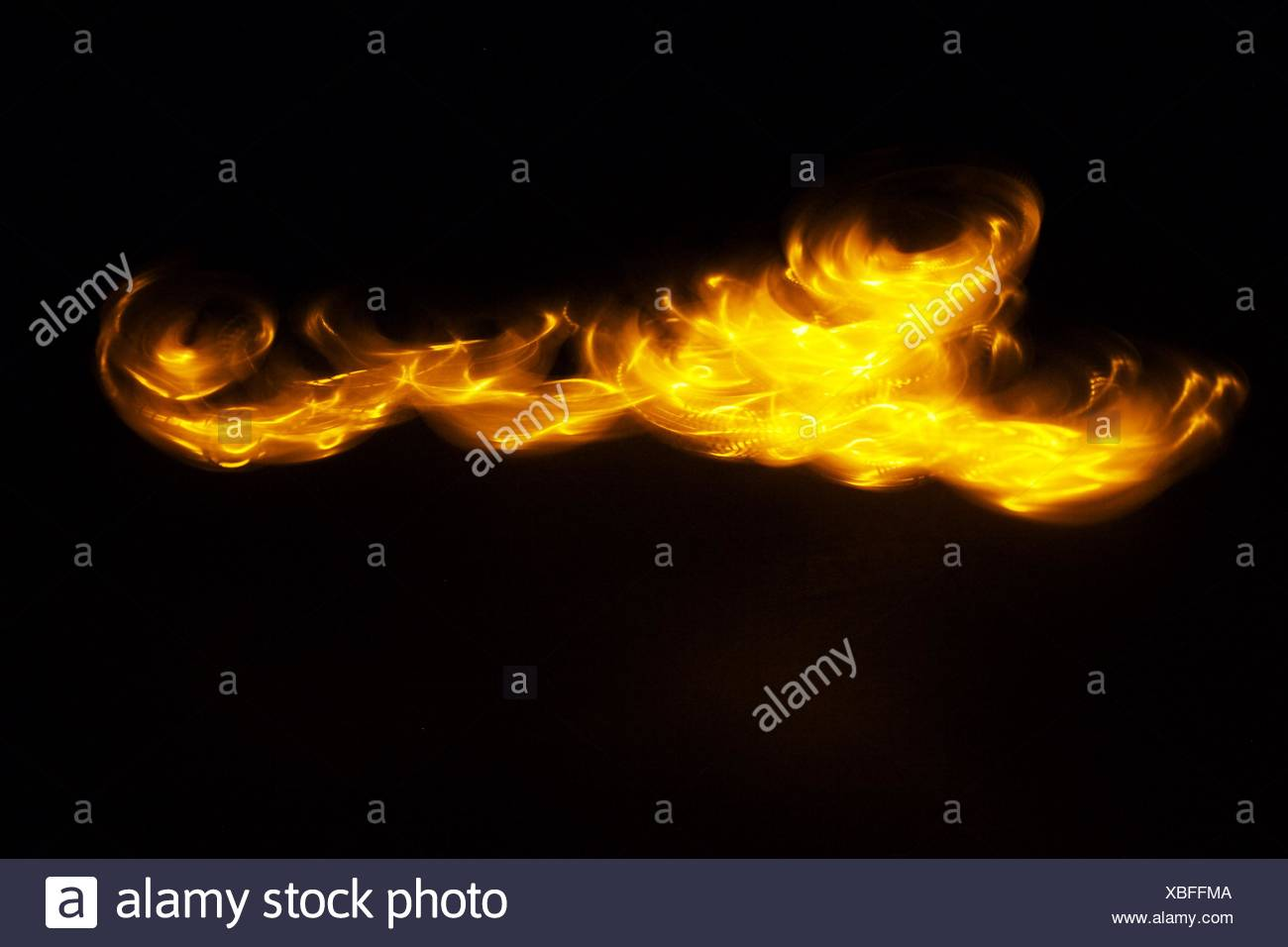 View Of Fire - Stock Image