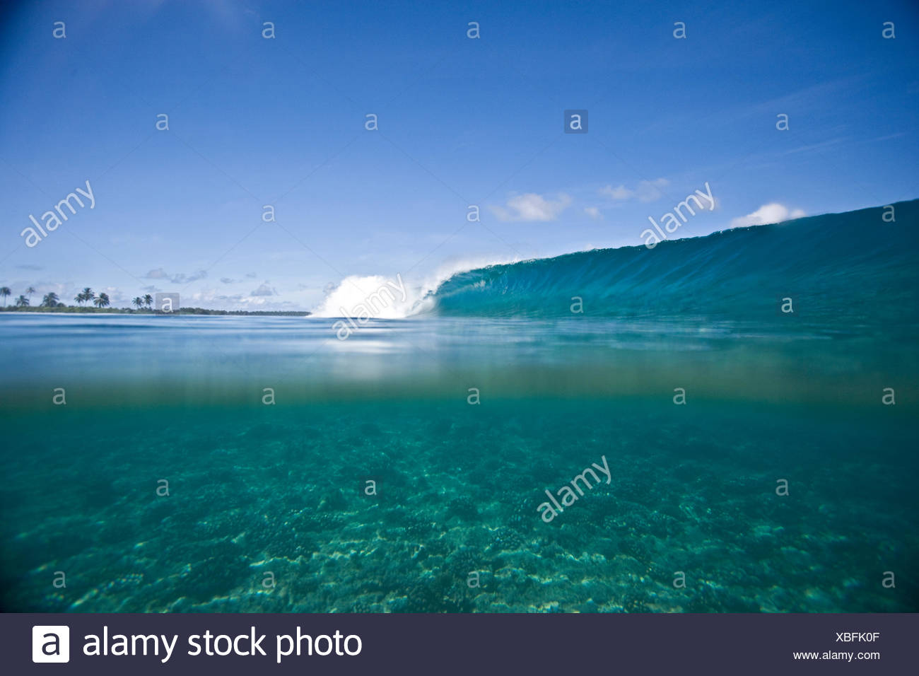 Ocean wave breaking - Stock Image