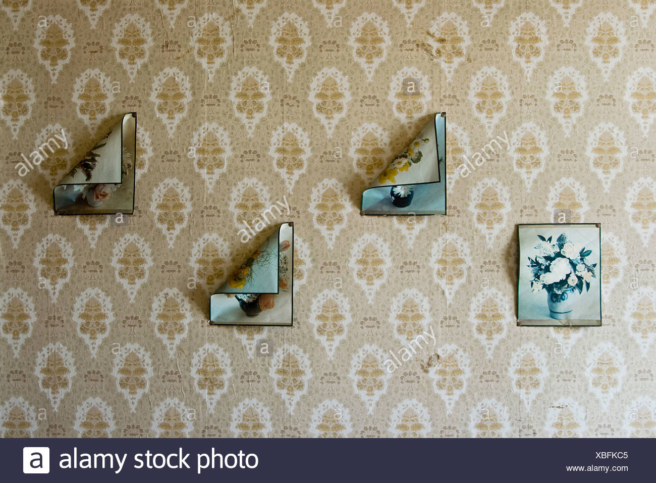 retro,wallpaper,leaving - Stock Image