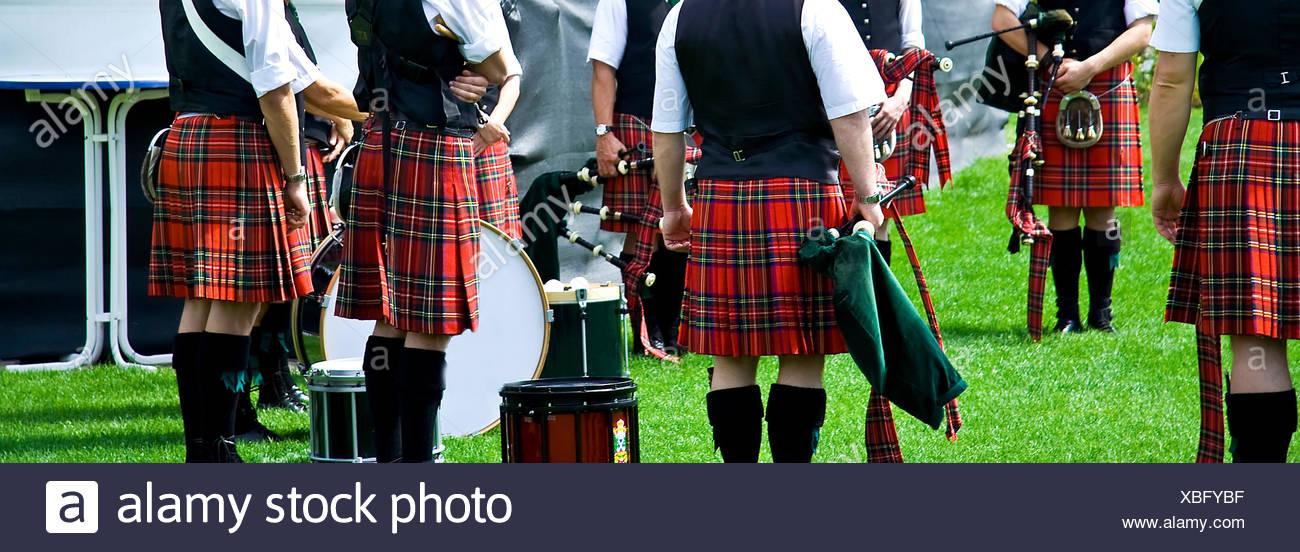 skirt scotland myth piece of clothing kilt outfit clothes clothing skirt - Stock Image