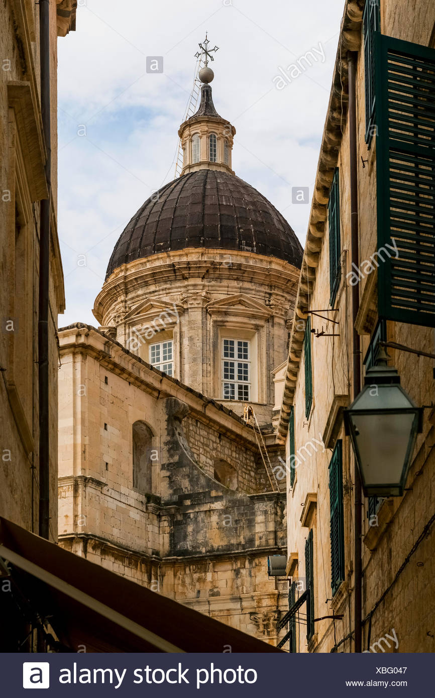 Dubrovnik Cathedral (Assumption of the Virgin); Dubrovnik, Croatia - Stock Image
