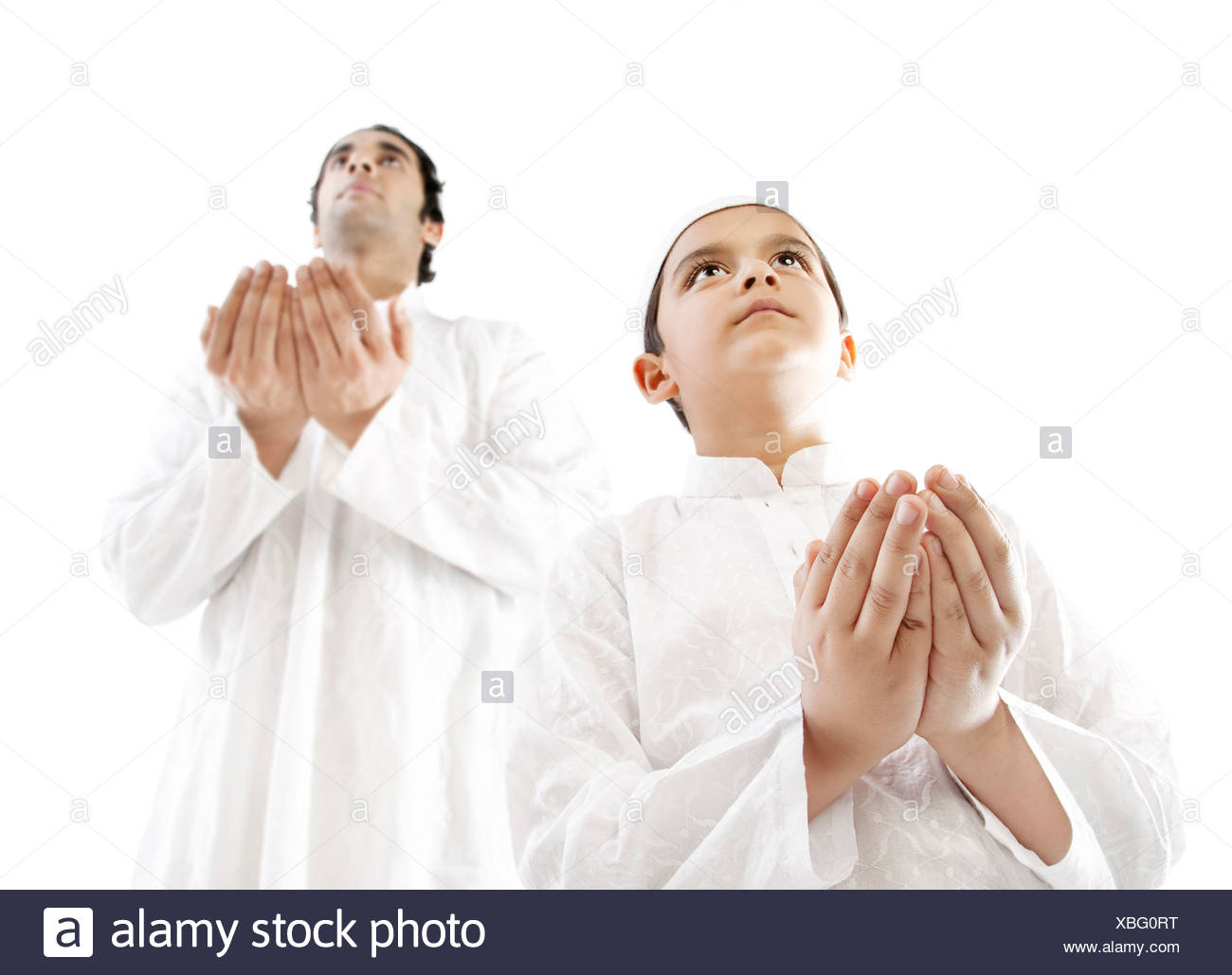 Muslim Father And Son Prayer Stock Photos Amp Muslim Father