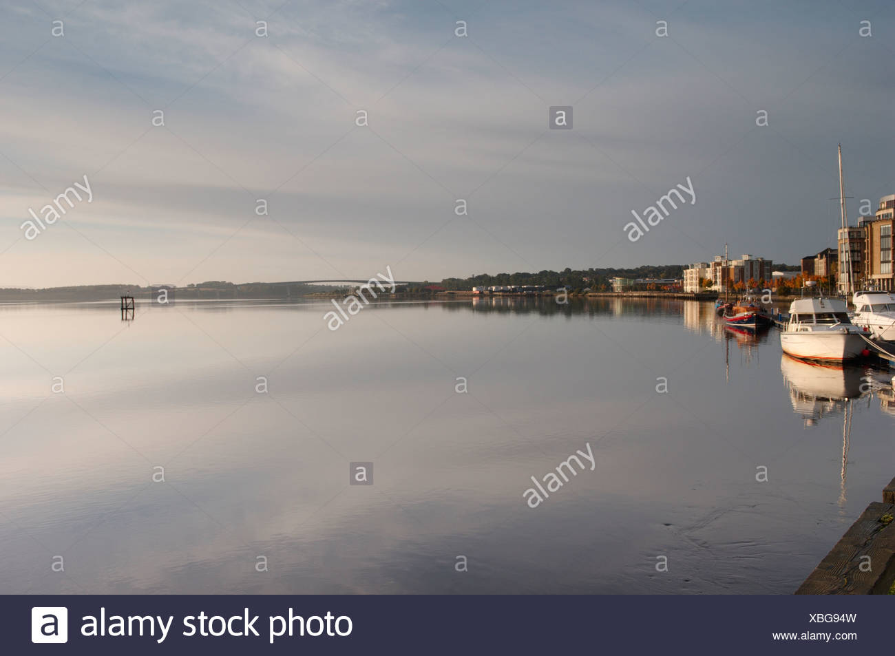 Northern Ireland, Causeway Coast, Foyle Harbour and boats - Stock Image