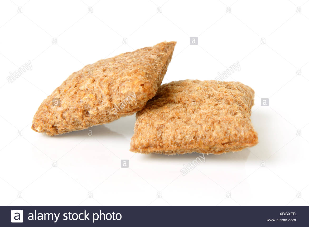 Pair of corn cookies Stock Photo