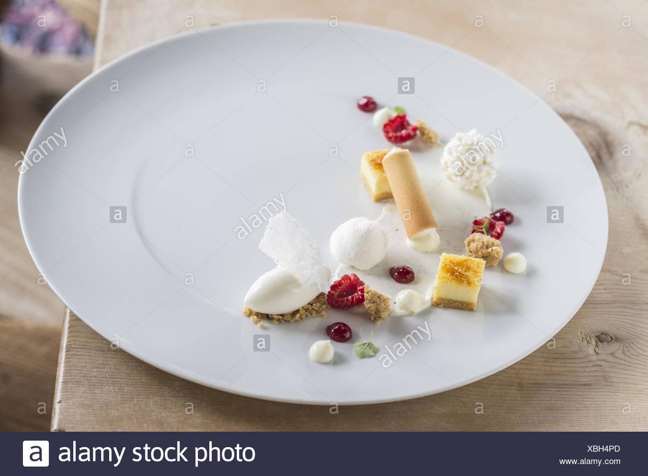 Food Plate Decoration Austria Stock Photo 282504053 Alamy