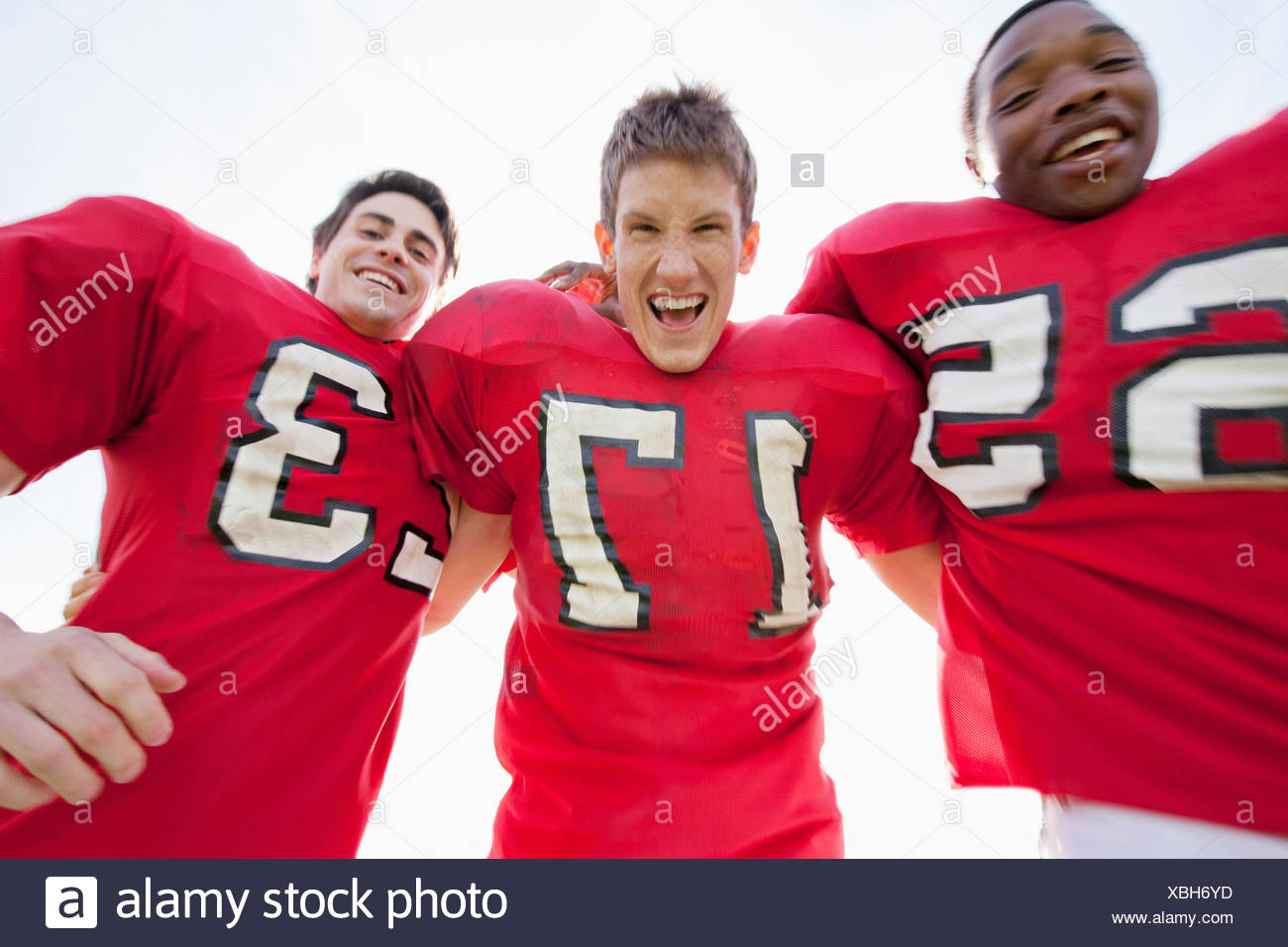 college football players in motion - Stock Image