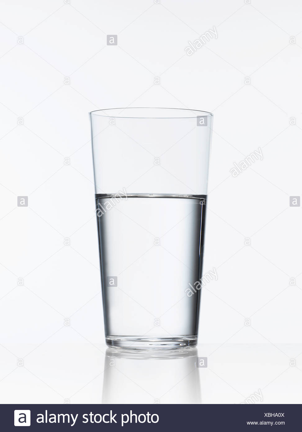 Studio shot of glass of water - Stock Image