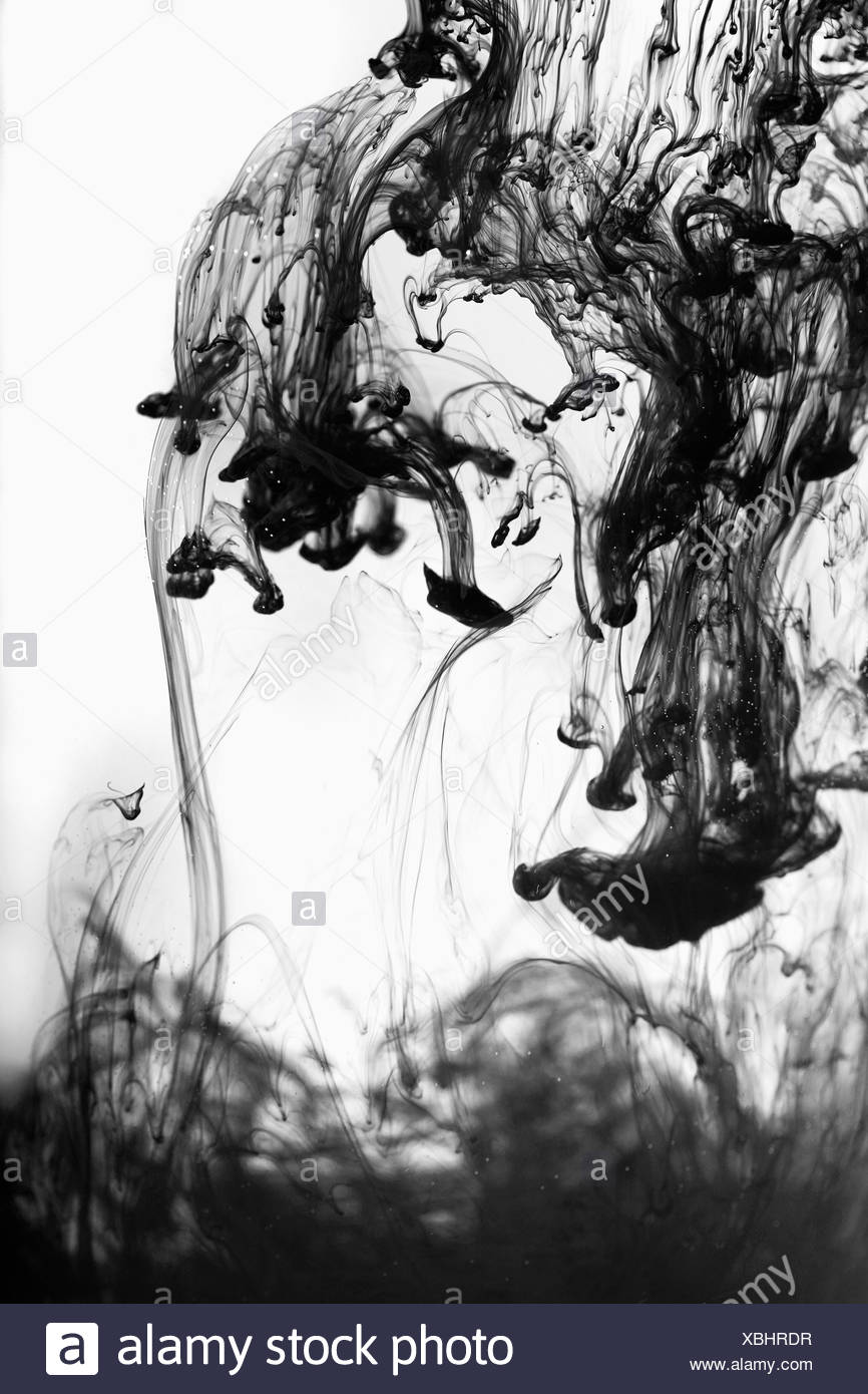 Ink in the water,concept - Stock Image