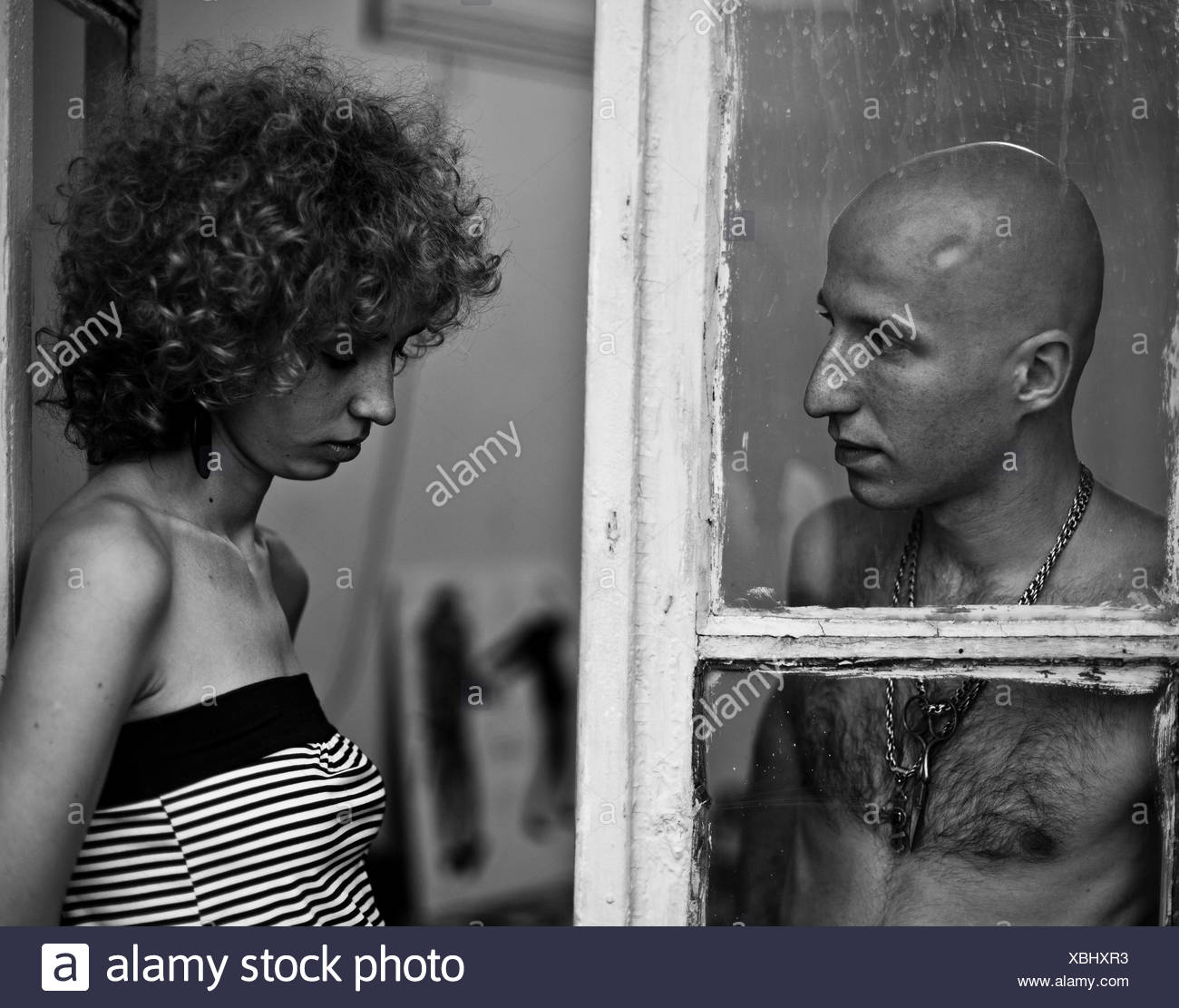 Looking Through A Window Black And White Stock Photos Images Alamy