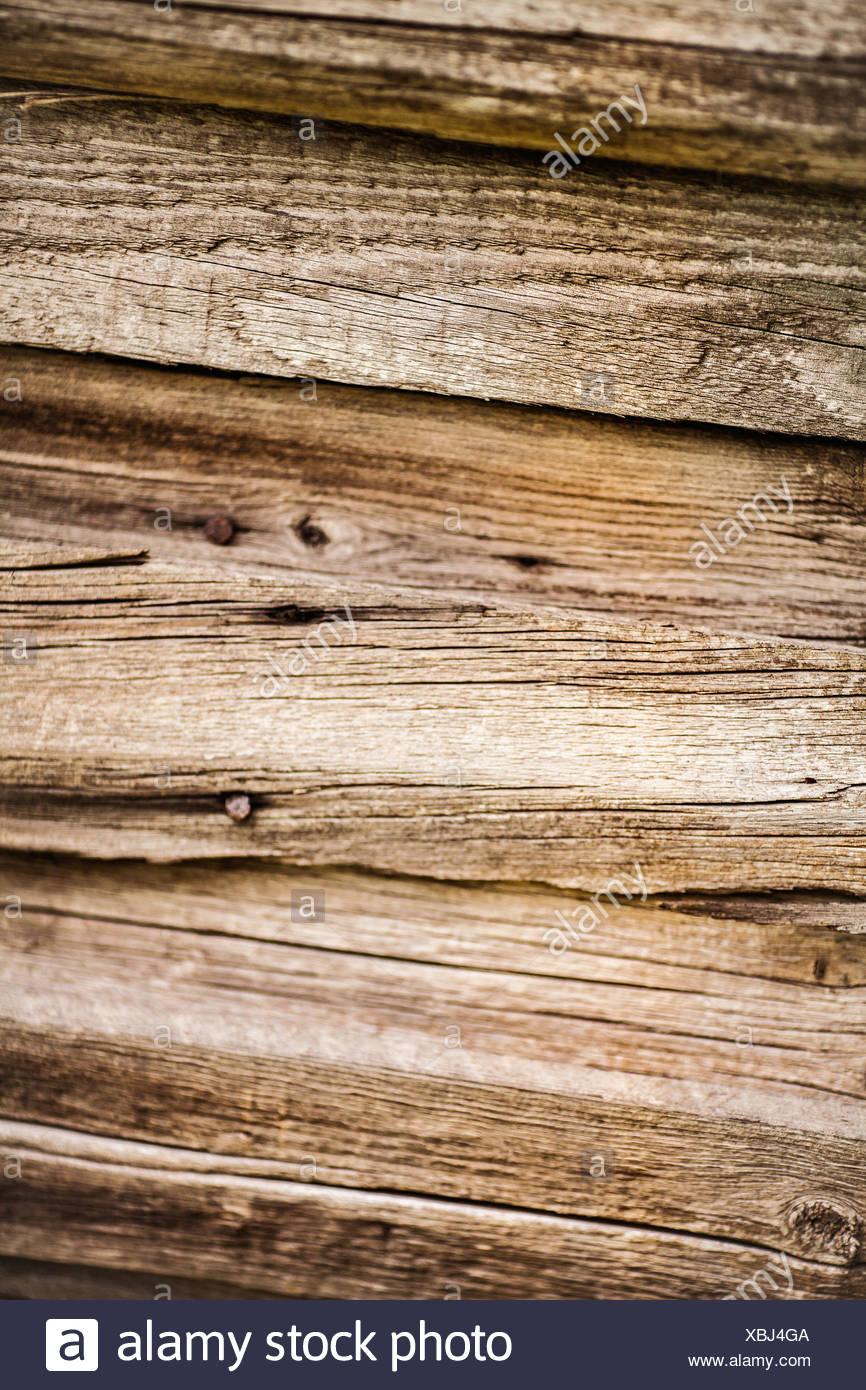 Dark, textured, wooden planks - Stock Image