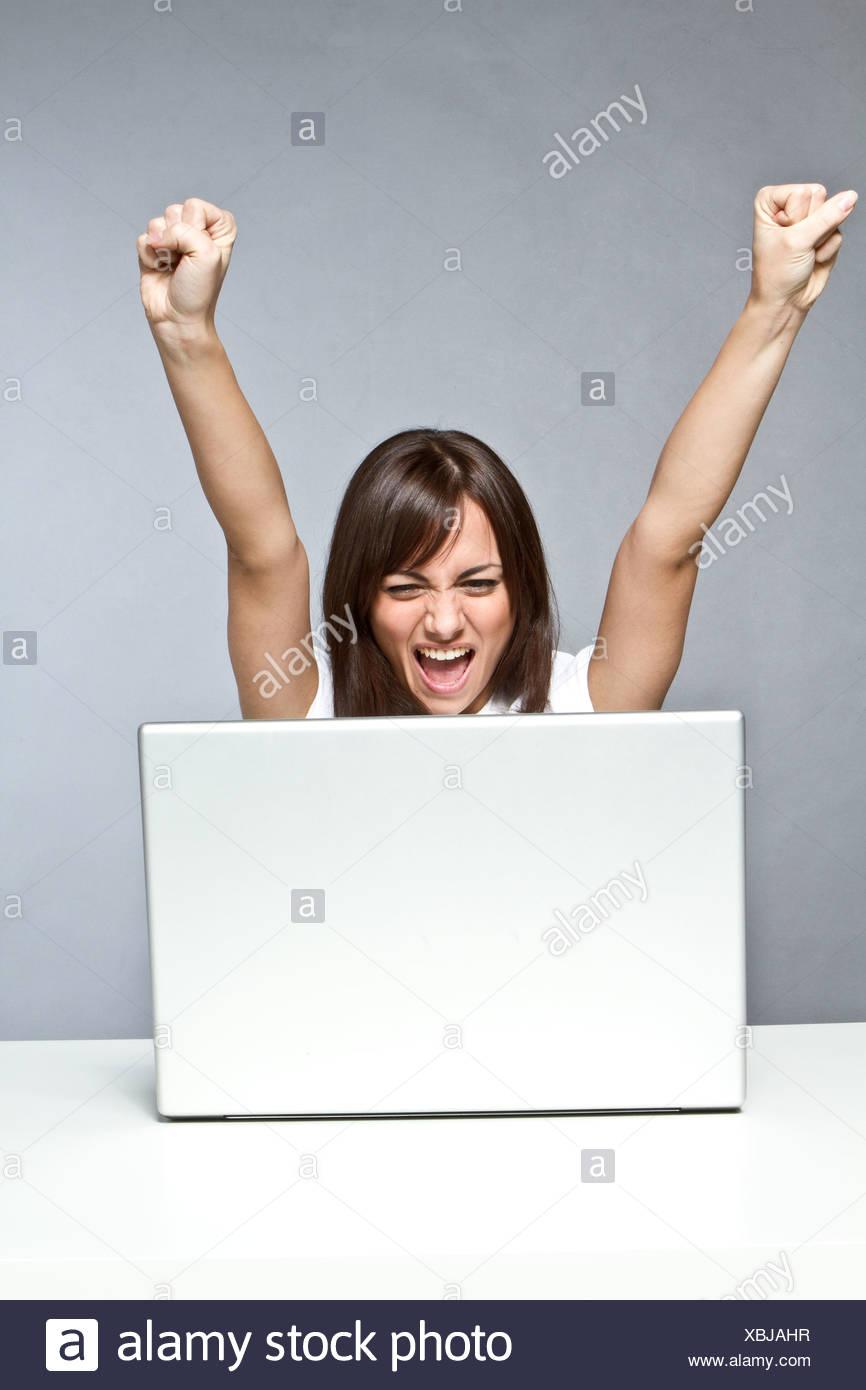 online winner - Stock Image