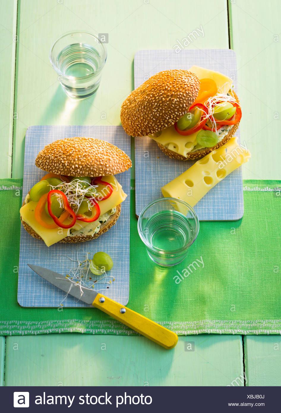 Käse Burger - Stock Image