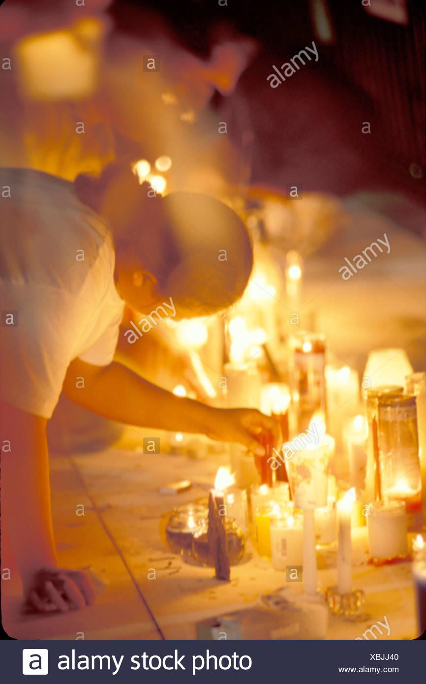 Candlelight vigil  - Stock Image