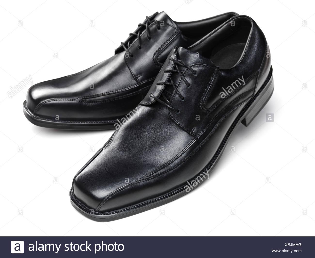9c8313f0 Pair of black men's dress shoes Stock Photo: 282538216 - Alamy