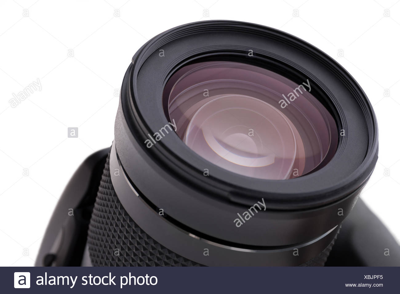 A digital reflex camera as an isolated object - Stock Image