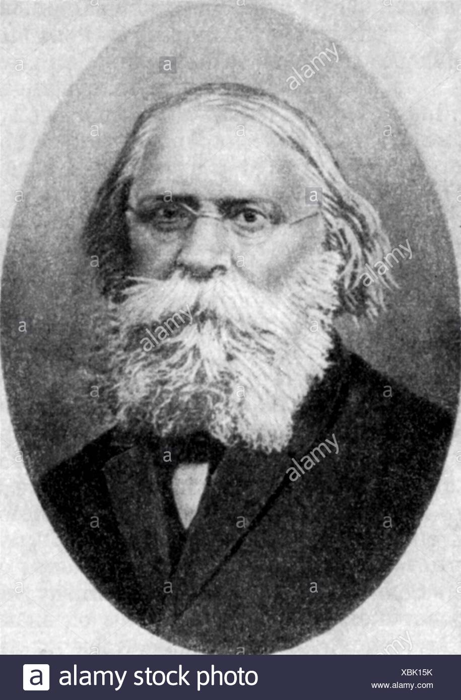Lavrov, Pyotr Lavrovich, 14.6.1823 - 6.2.1900, Russian poet, publicist, sociologist, portrait, late 19th century, Additional-Rights-Clearances-NA - Stock Image
