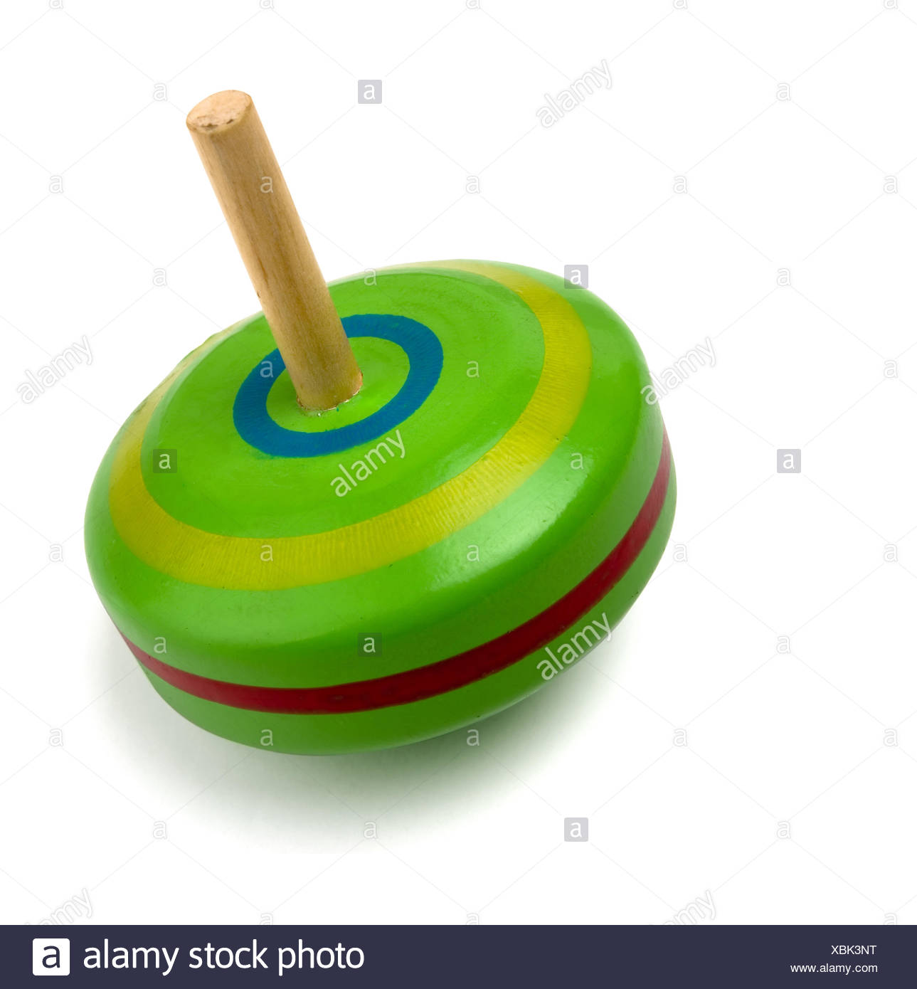 Spinning top toy - Stock Image