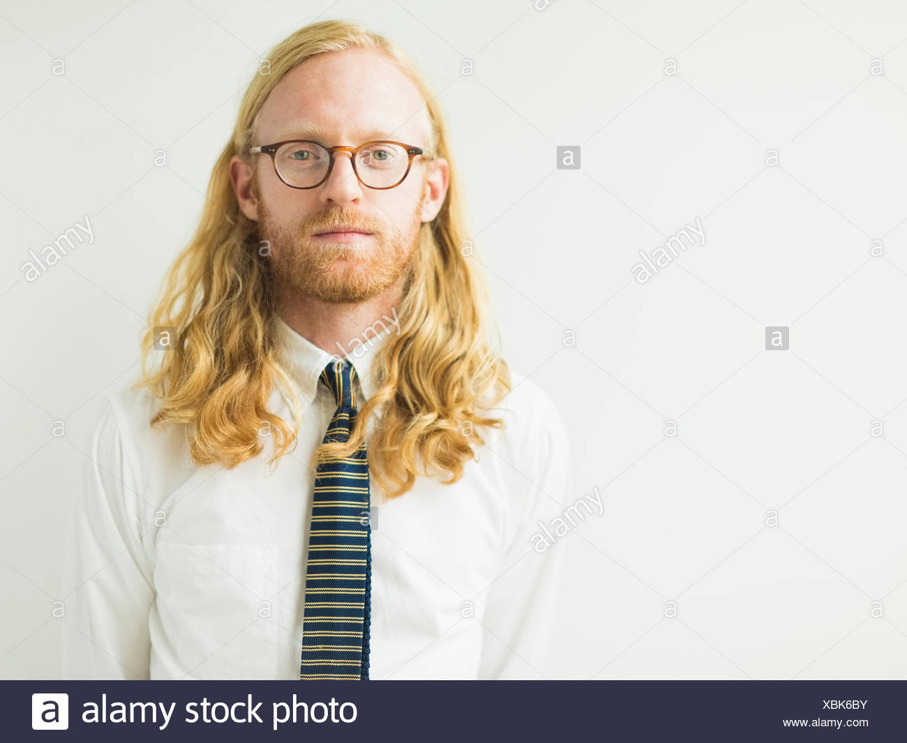 Portrait of blond man - Stock Image