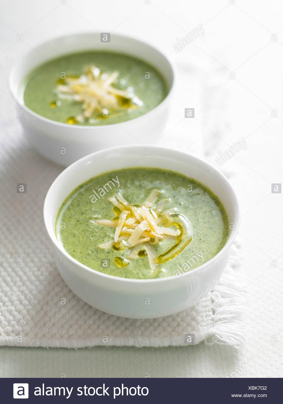 watercress soup - Stock Image