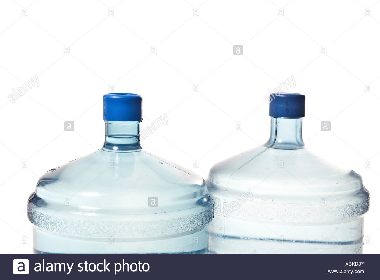 two big plastic bottle's for potable water - Stock Image