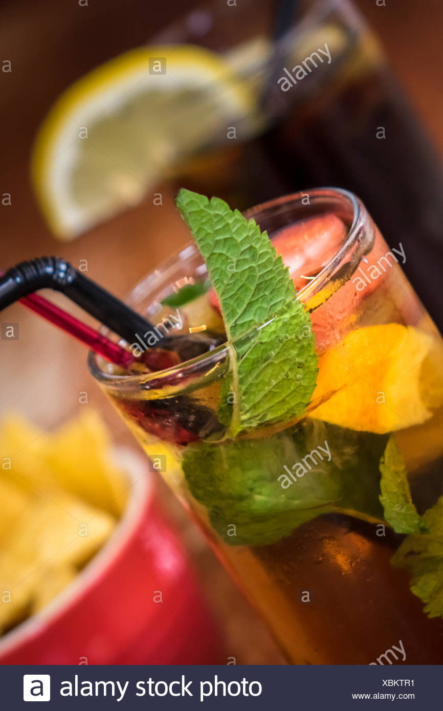 Pimms and cola - Stock Image