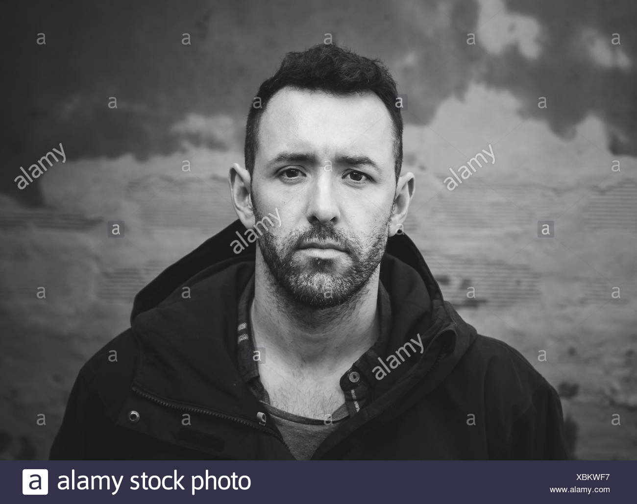 Portrait of man with full beard - Stock Image