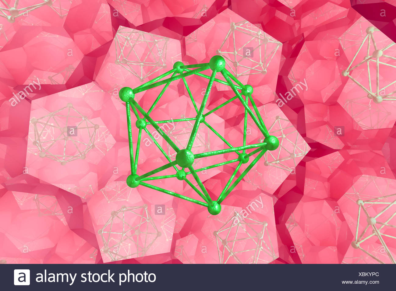 Molecules, computer illustration. - Stock Image