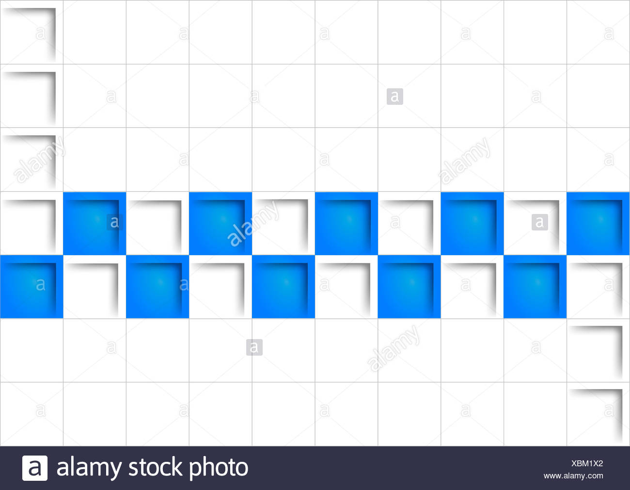 blue square - Stock Image