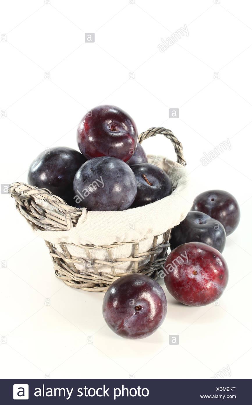 fresh plums - Stock Image