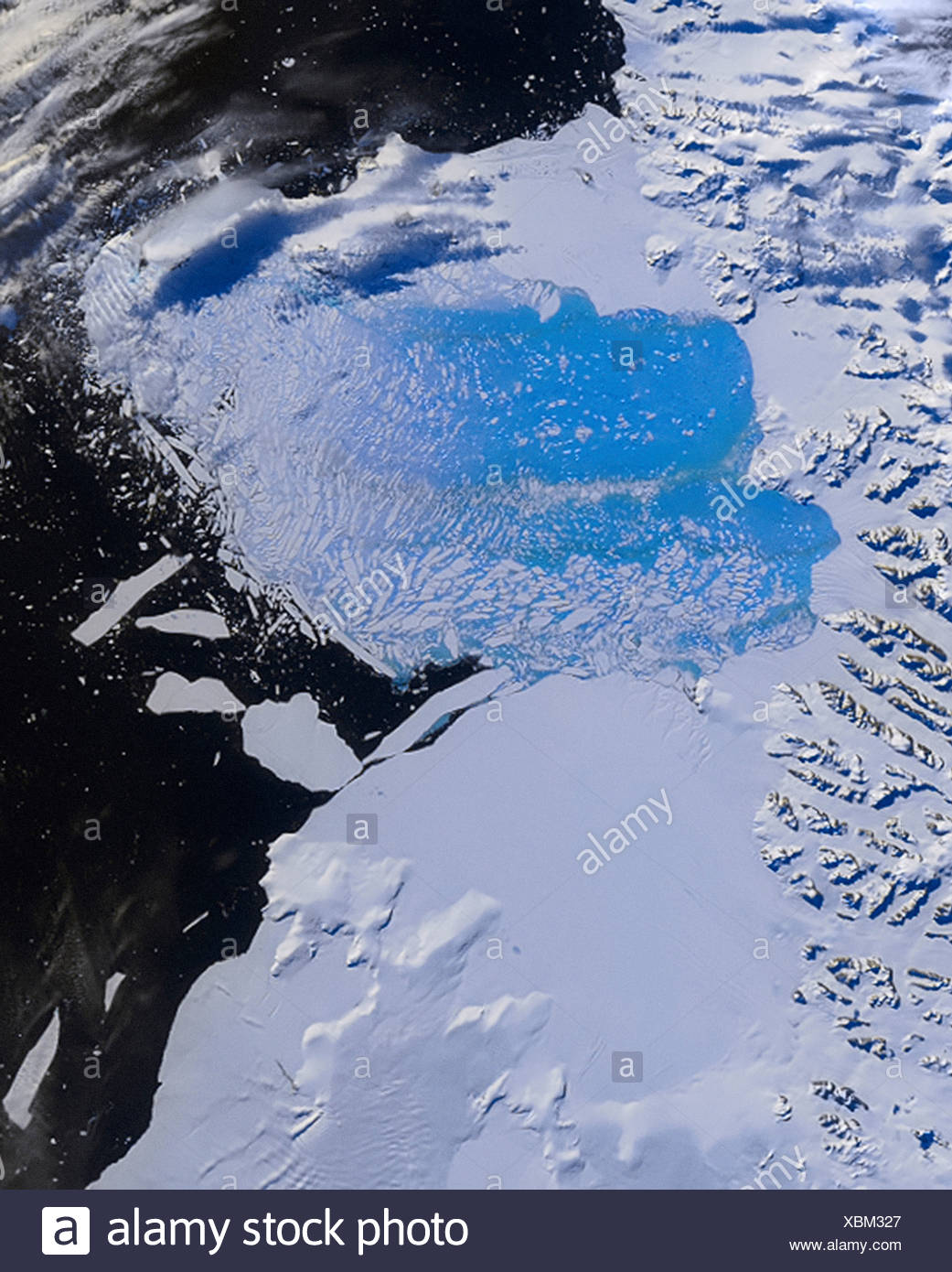 Collapse of Larsen B Ice Shelf - Stock Image