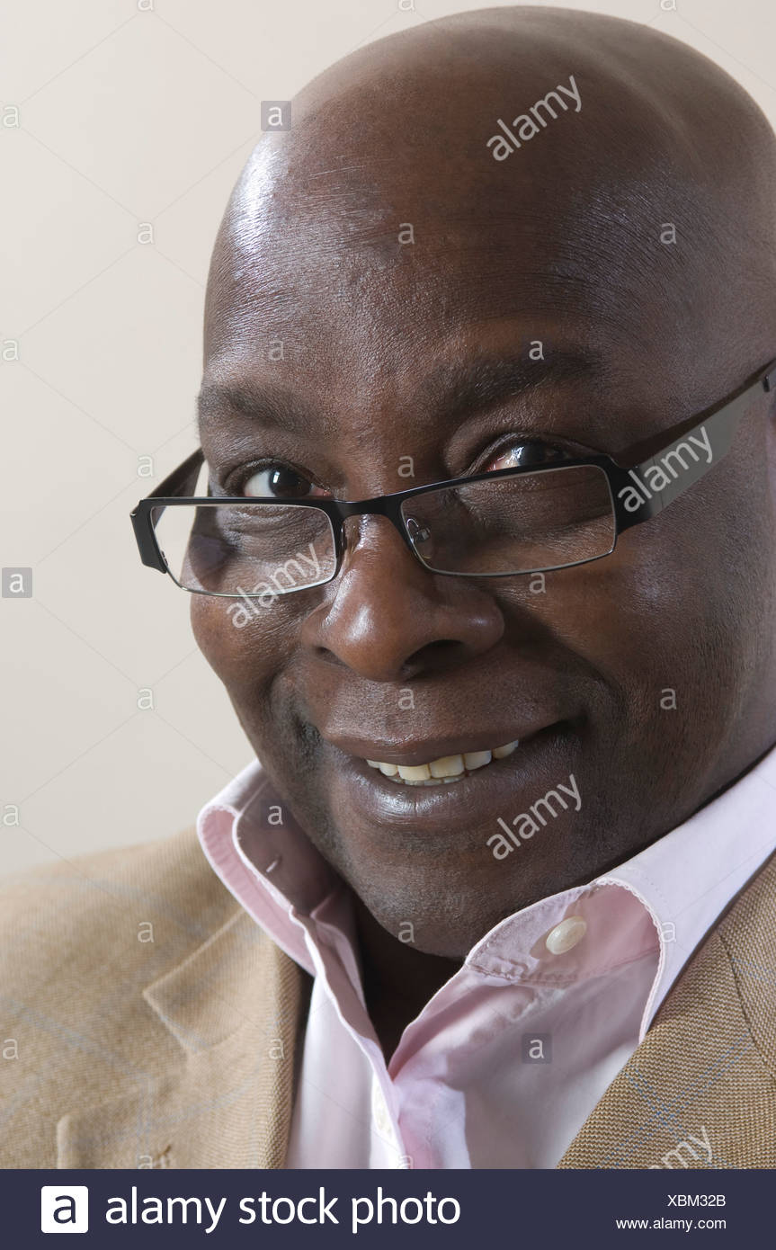 headshot of black businessman - Stock Image