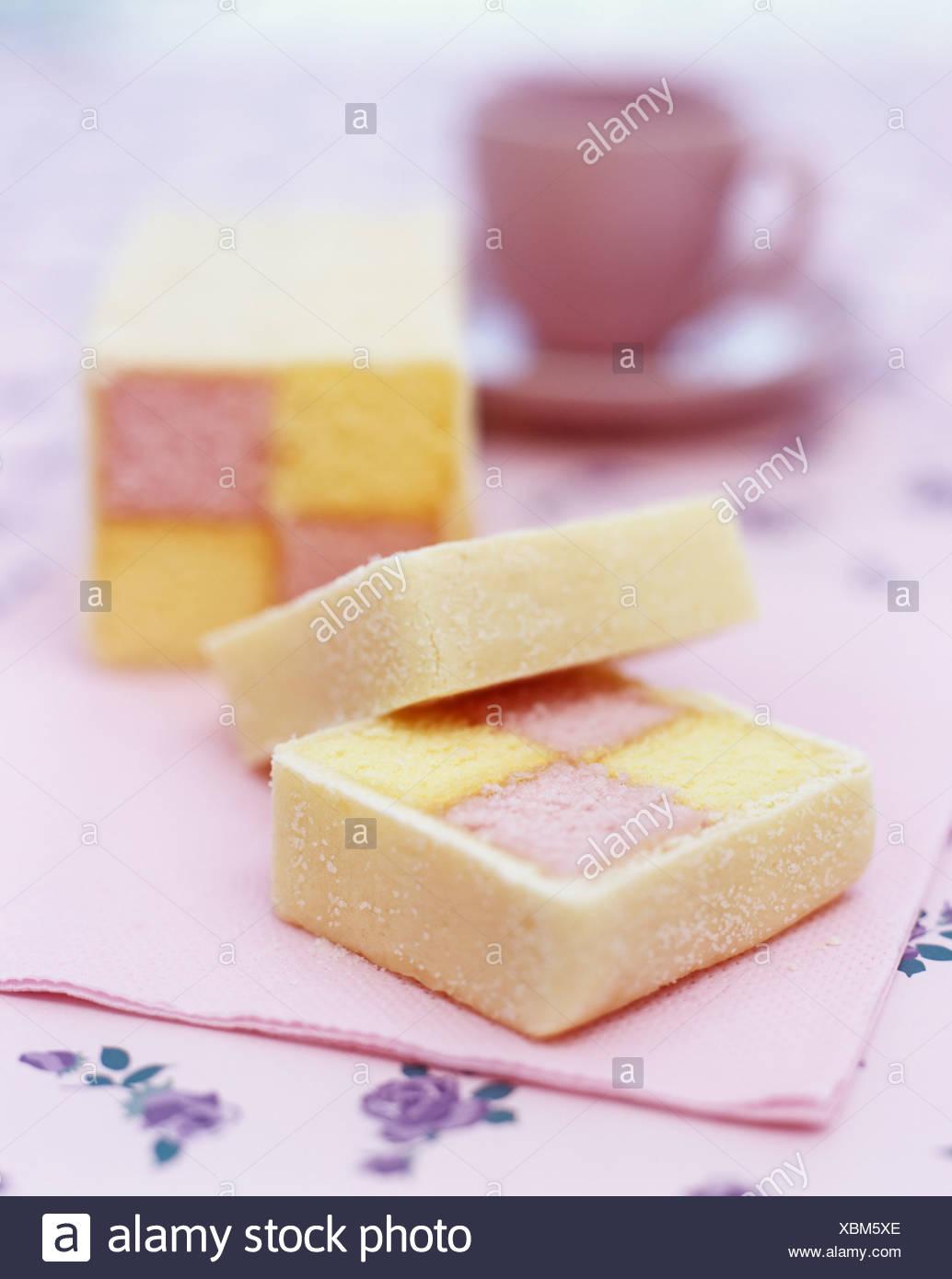 Battenburg cake - Stock Image