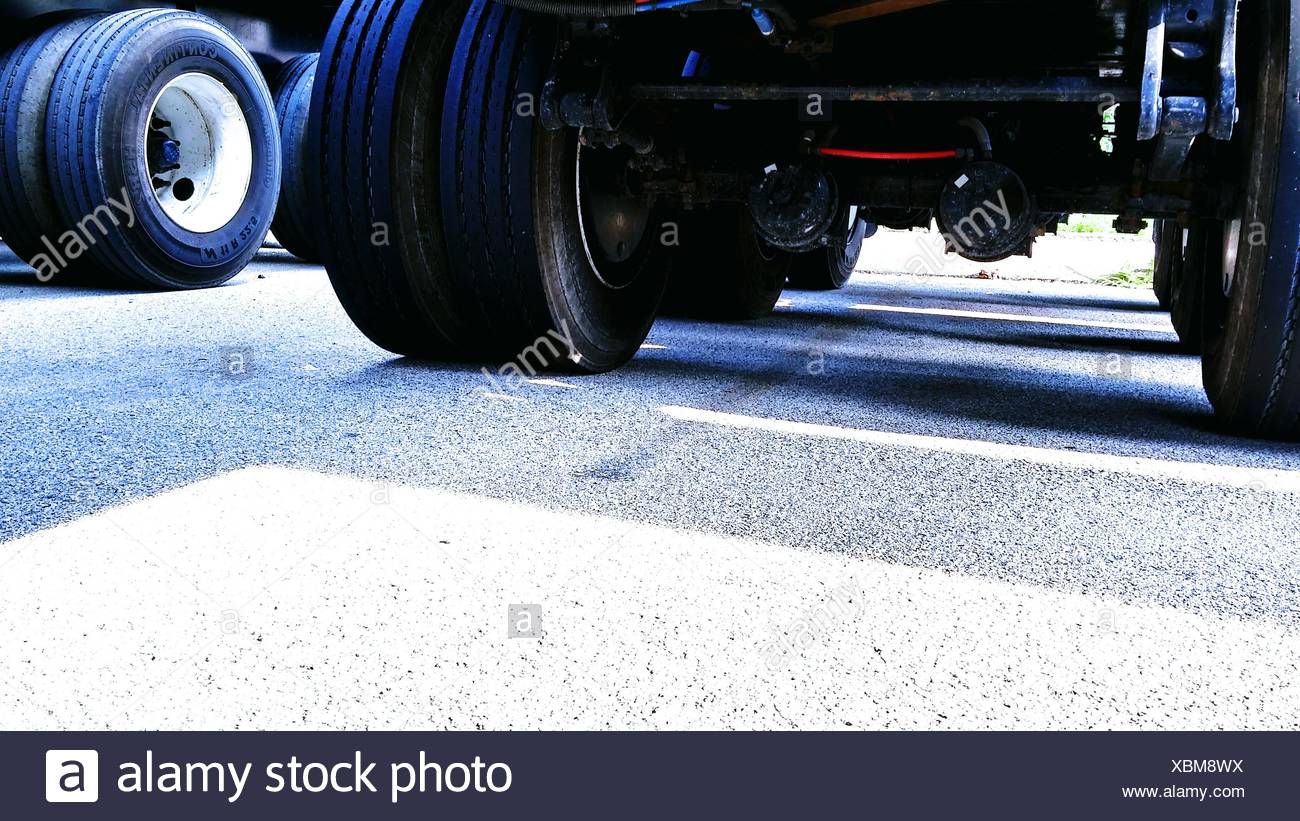 View Of Lorry Undercarriage - Stock Image