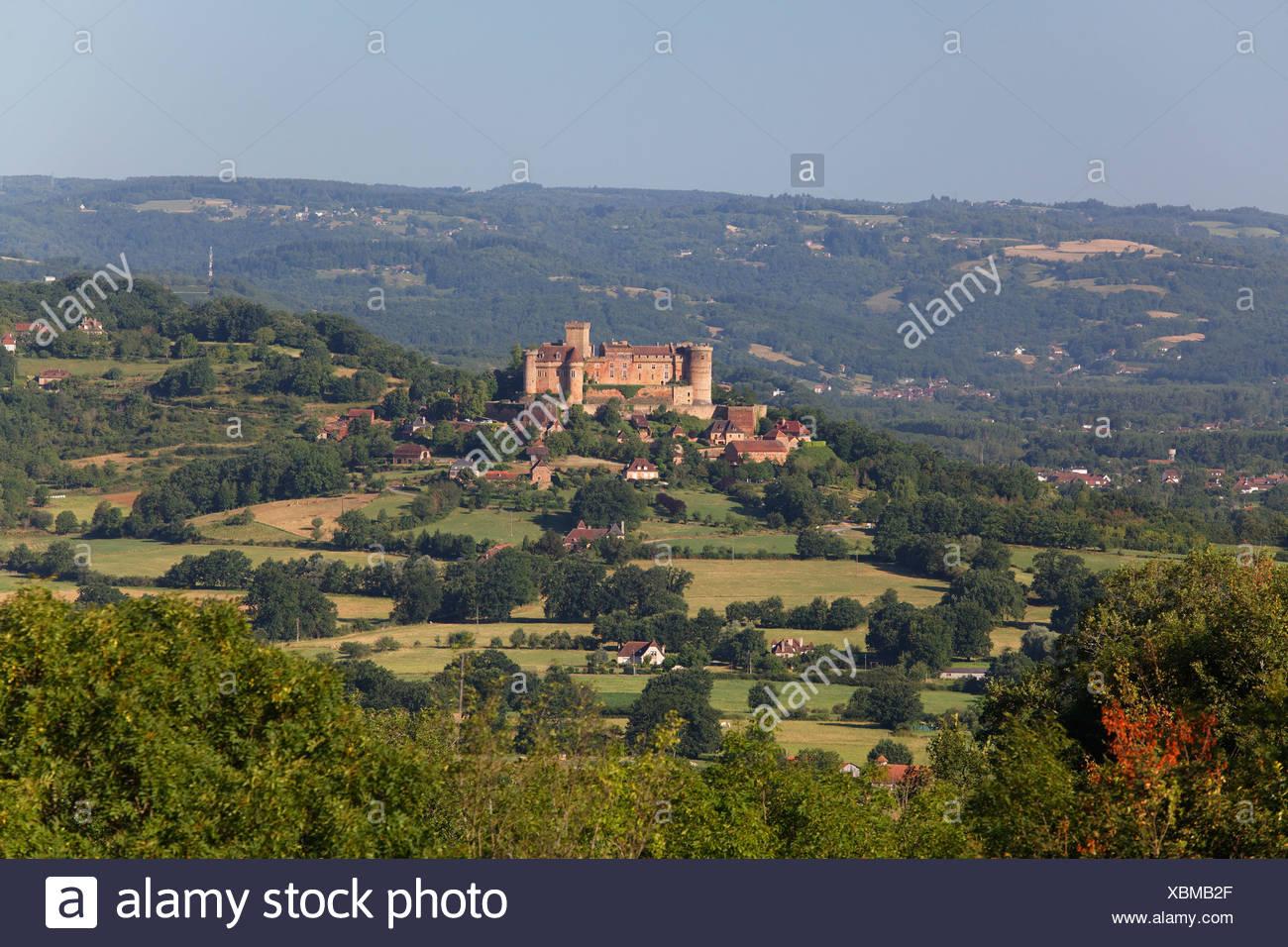 Chateau de Castelnau Bretenoux, Bretenoux, Vallee du Cere valley, Lot, France, Europe Stock Photo