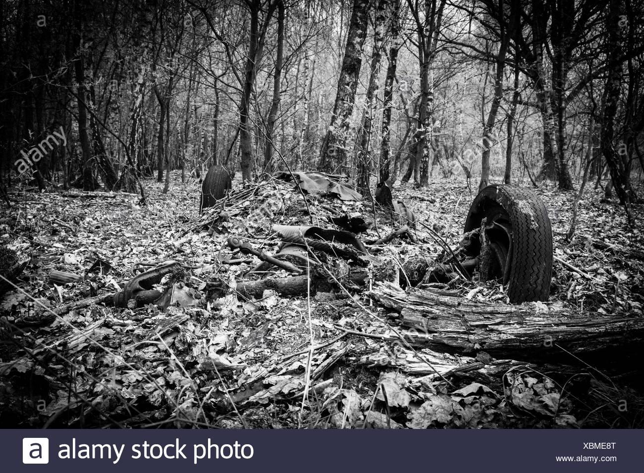 car wreck - Stock Image