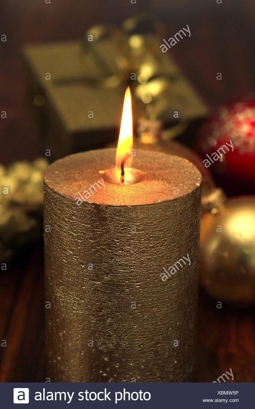 Weihnachtsstimmung, Kerzenlicht Stock Photo
